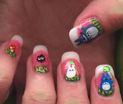 unghie, salto, smalto colorato, disegni